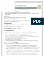 educational resume 2014-2