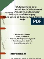 Political Awareness as a Determinant of Social Discontent