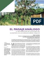 El paisaje análogo La recuperación de funciones del ecosistema en los espacios verdes públicos.