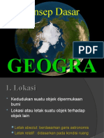 Konsep Dasar Geografi