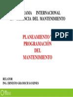 Planeamiento y Programación del Mantenimiento