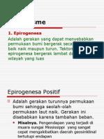 1. Epirogenesa Adalah Gerakan Yang Dapat Menyebabkan