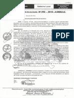 Resolucion de alcaldia n° 292-2015