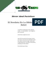 Héctor Abad Faciolince, El Novelista en La Biblioteca de Babel