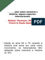 Mestrado - Thomson, Frisch e Hamilton