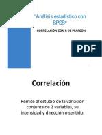 Correlación Con r de Pearson (SPSS)