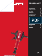 Operating Instructions TE 3000-AVR P1 ES PUB 5070854 000