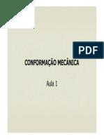 Aula 1 - Conformação Mecanica