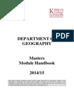 Masters Module Handbook
