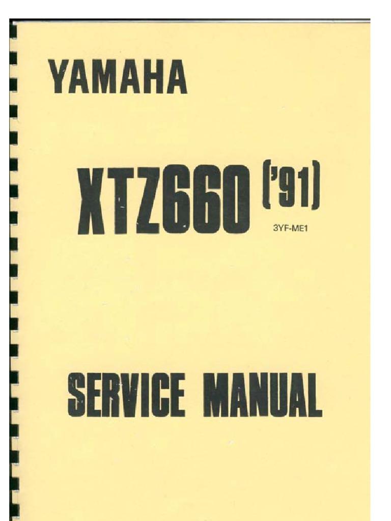 service manual for yamaha tenere 3yf rh scribd com Yamaha XTZ 125 Yamaha 600 Tenere Fuel Capacity