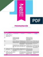 Programación Cultural FIL Lima 2015