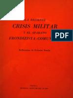 F. Bracht. La Reciente Crisis Militar