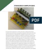 Sistema Fotovoltaico Simplificado