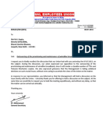 Letter to Director (CFA) on Meeting