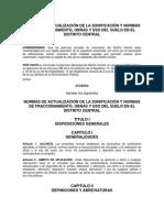 Actualización Del Reglamento de Tegucigalpa