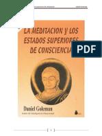 Goleman, Daniel - La Meditación y Los Estados Superiores de Conciencia