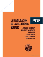 Donzelot. Fragilización de relaciones sociales