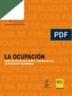 LA OCUPACIÓN COMO FACTOR DE INCLUSIÓN Y CALIDAD DE VIDA DE POBLACIÓN VULNERABLE