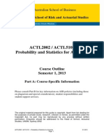 ACTL5101 Probability and Statistics for Actuaries S12013
