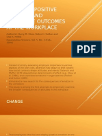 Employee Positive Emotion and Favorable Outcomes at The