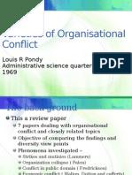 Varieties of Organisational Conflict