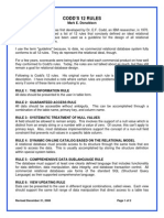 Codd's 12 Rules