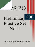 IBPS PO Preliminary Practice Set 4
