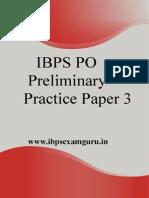 IBPS PO Preliminary Practice Set 3
