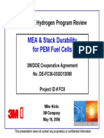 MEA & Stack Durability for PEM Fuel Cells