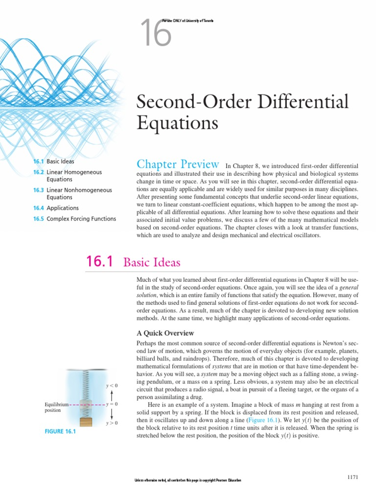 Mat187 Textbook Ch16 Differential Equations Solve This Second Order Equation For A Rlc Series Circuit