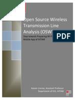 Open Source Wireless Transmission Line Analysis (OSWTLA)