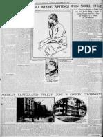 Tagore Nobel NYT