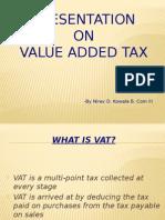 presentation on value added tax