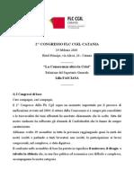 Relazione Del Segretario Generale Della Flc Cgil Catania Lillo Fasciana 19 Febbraio 2010
