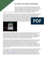 Detectan Mas Moviles Chinos Con Malware Preinstalado