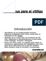 Tacrolimus Para El Vitiligo