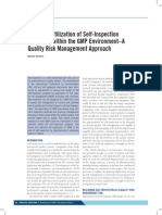Improved Utilization of Self-Inspection Programs Within the GMP Environment–a Quality Risk Management Approach