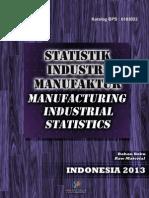 Statistik Industri Manufaktur Bahan Baku 2013