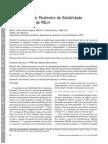 Determinação do Parâmetro de Solubilidade de Poliuretanos de PBLH