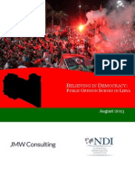 Believing in Democracy Public Opinion Survey Report August 2013
