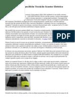 Test Su Strada E Specifiche Tecniche Scooter Elettrico Peugeot E