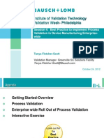 Best Practice to Implement Process Validation in Device Manufacturing Enterprise