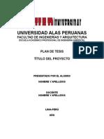 Modelo de Plan de Tesis Actualizado