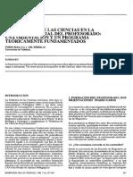 LA DIDÁCTICA DE LAS CIENCIAS EN LA FORMACION INICIAL DEL PROFESORADO