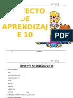 PROYECTO DE APRENDIZAJE  1° DICIEMBRE
