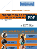 Proposition de Synthèse de La Norme ISA 200