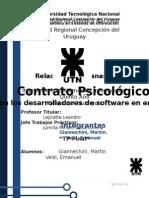 Contrato psicológico en empresa de Software