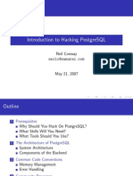 Introduction to Hacking PostgreSQL