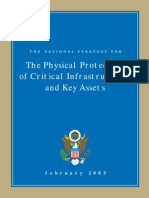 The National STrategy for The Physical Protection of Critical Infrastructures and key Assets