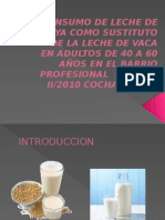 CONSUMO DE LECHE DE SOYA COMO SUSTITUTO.pptx